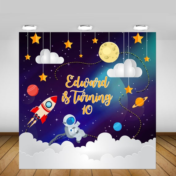 Printable Space Party Backdrop Space Birthday Party Space