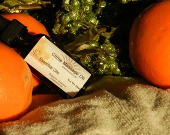 Citrus Massage Oil,  Body Massage Oil, Grapeseed Oil, Essential Oils