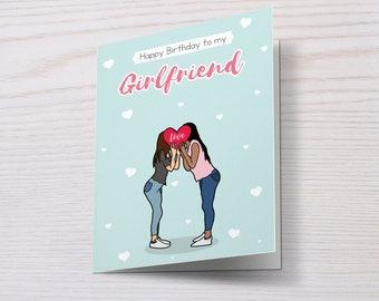 Happy Birthday To My Girlfriend/Fiancée/Wife, Lesbian Birthday Card, Girlfriend Birthday Card, Lesbian Couple, LGBT Birthday Card, LGBT