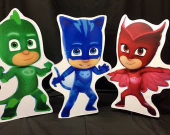 PJ Masks characters Party Prop, Cut-outs, kids characters