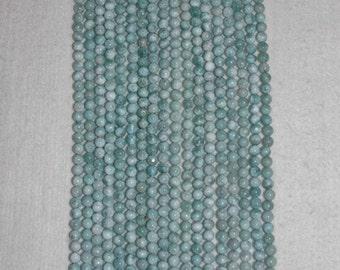 Larimar, Larimar Bead, 6 mm, A, Smooth Bead, Natural Stone, Semi Precious Bead, Gemstone Bead, Blue Bead, Half Strand, AdrianasBeads