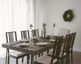 Reclaimed Wood Dining Table (up to 8-10 people) - The Inaugural Collection