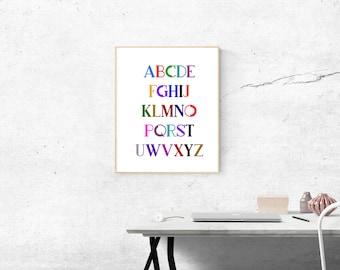 Alphabet for nursery room
