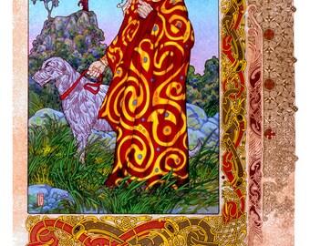 """Celtic Irish Fantasy Art BREAS.CU BREA 23x16""""."""