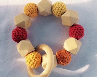 Baby teether Baby toys red/orange/yellow