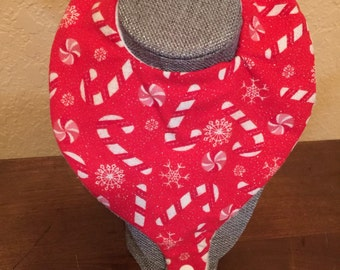 Christmas Pacifier Bib - Teether Bib - Binky Bib Handmade for Infants and Toddlers