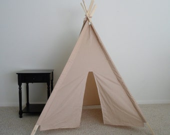 Tea Dyed Muslin Teepee Made  to Order , Kids Teepees  , Tent , Teepee , Play Tent , Tipi , Wigwam or Kids Fort