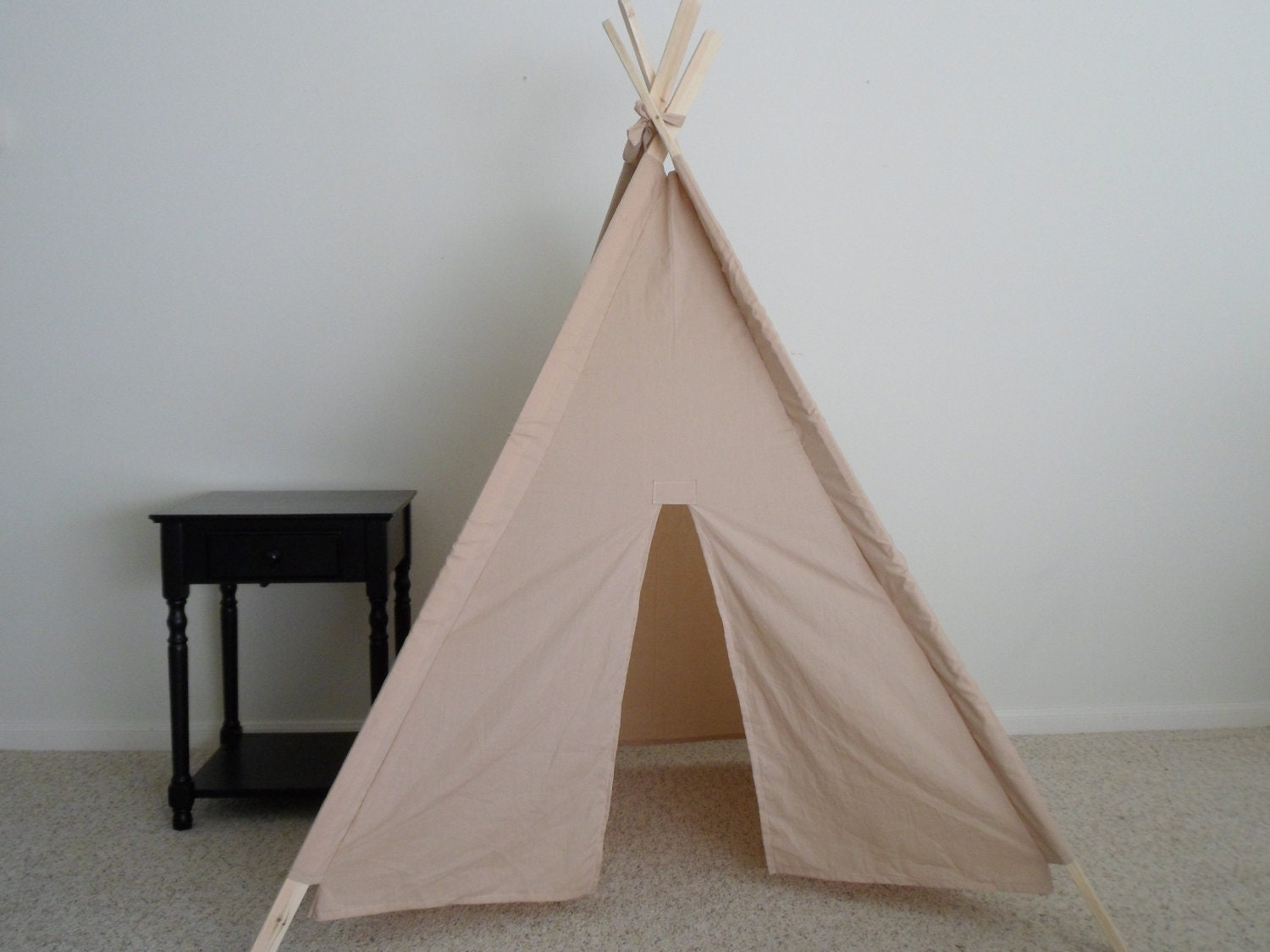 Tea Dyed Muslin Teepee Made to Order  Kids Teepees  Tent  Teepee  Play & Kids Teepee play tent play fort natural cotton childrens