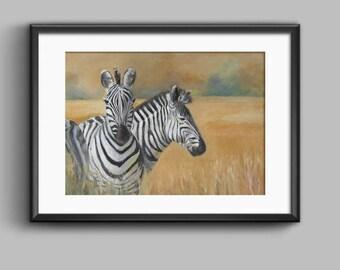 Zebra Print, Zebra Wall Art, Zebra Painting