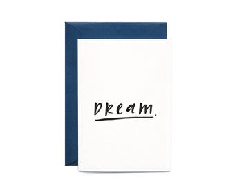 Dream Illustrated Greeting Card