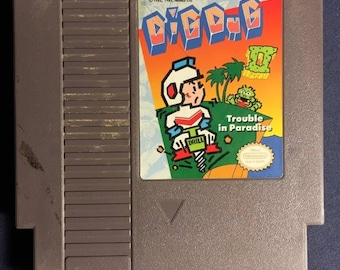 Dig Dug 2 Nintendo NES Video Game NA Version Cartridge Only From 1989