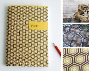 A5 Animal Notebook / Plan / Organize / Turtle / solid / yellow