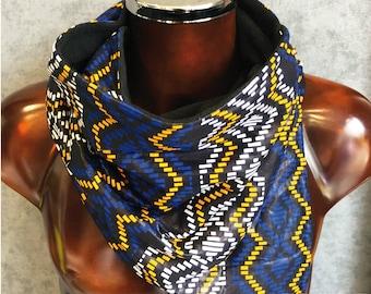 Snood neck wax fabric and fleece No. 19