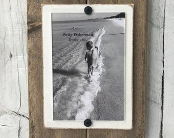 """Handmade Rustic Wooden Frame - Natural Finish - 7""""x 9"""", 4x6 photo"""