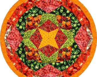 "Farmer's basket, 18"" pizza, PDF pattern and tutorial"