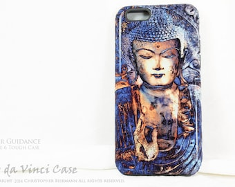 Blue Buddha iPhone 6 6s Case - Dual Layer Two Piece Protective Buddhist Tough Case - Inner Guidance