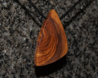 Olive Wood Pendant, wood jewelry