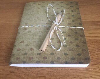 Mini Travellers Notebook / Sketchbook - Vintage Dots