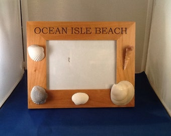 Summer vacation picture frame