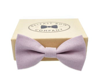 Irish Linen Bow Tie in Mauve - Adult & Junior sizes available