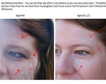 Dark Circles Wrinkles Bags under Eyes Brighten Caffeine DMAE MSM Serum 89% Organic Anti Aging Serum Under Eye Treatment Vegan Toxic Free