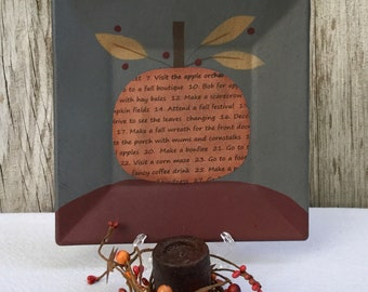 Fall Plate  and Candle Centerpiece