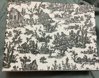 French toile black & white farm Theme Blank Stationary Cards