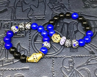 Blue African Trade Bead Bracelet (choice of bracelets )