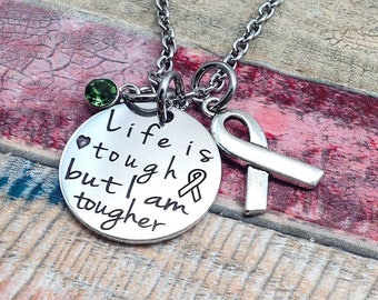 Awareness necklace, Kidney Cancer, MS, Fibromyalgia, Anxiety Jewelry,  Multiple Sclerosis, Leukemia, Muscular Dystrophy, ADHD Jewelry