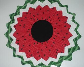 Watermelon Table Topper- Dresden Plate Pattern