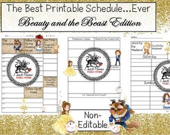 Beauty and the Beast Teacher Schedule