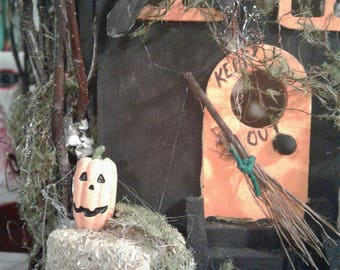 Keep Out~ Haunted Halloween Birdhouse