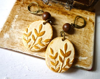 Clay Handmade Botanical Earrings