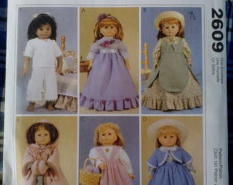 Vintage Style Doll Costume Pattern # 2609 McCalls Unused Not A PDF Copy