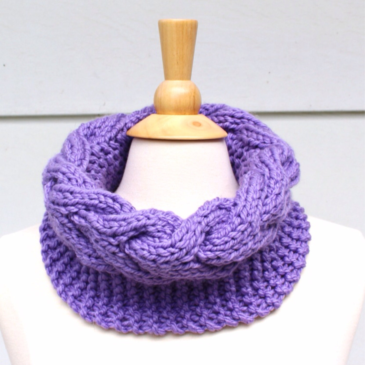 Knit cable cowl pattern, knit circle scarf pattern, horseshoe cable ...