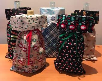 Wine Bottle Bags with Cork Screw