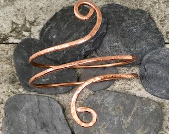 Copper bracelet, Wide copper bracelet, Copper wrap bracelet, Wise bangle, Hammered copper, Copper bangle, Wrap bangle, Wrap around bracelet
