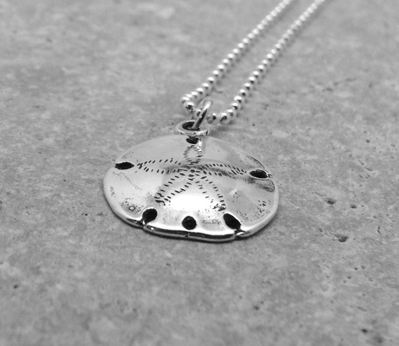 Sterling silver sand dollar necklace sand dollar jewelry aloadofball Image collections