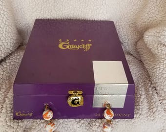 Cigar Box Purse Graycliff (purple/white)