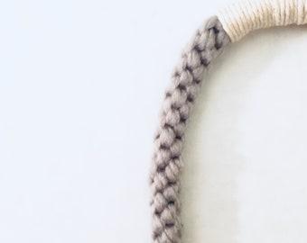 The Box Knit | Hand Knit Necklace | Statement Piece | Boho Style