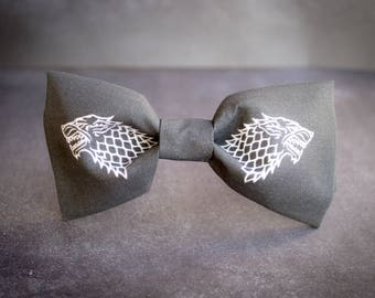 Game of Thrones House Stark Bow Tie