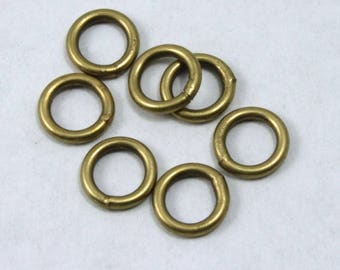 8mm Antique Brass Soldered Jump Ring #RJE040