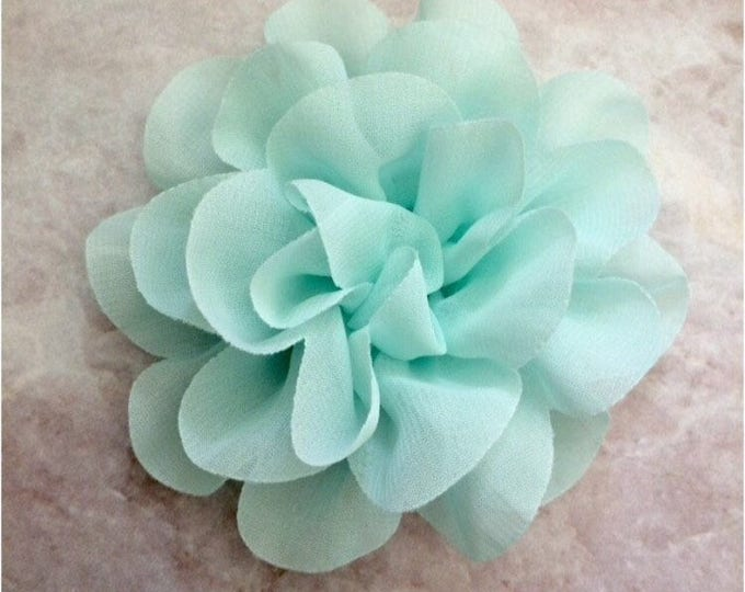 "4"" Mint Chiffon | Flower for Dog Collar | Medium/Large Dog | CupcakePups"