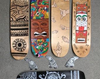 Personalized skateboard deck