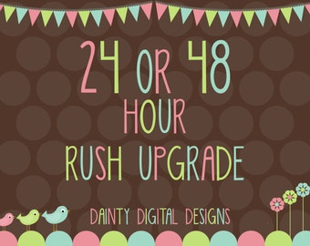 24 OR 48 Hour Rush Upgrade
