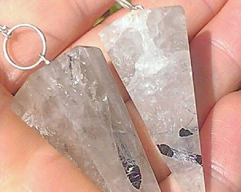 Tourmalated Quartz Pendulum