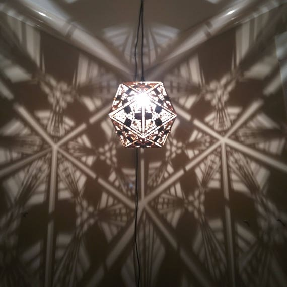 Icosahedron - Hanging Pendant Shadow Lamp