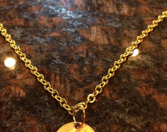 Zambia 1 Ngwee coin necklace