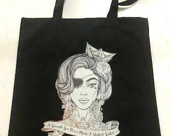 Tote bag Sailor Girl black