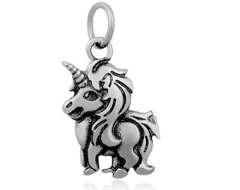 charm pendant horse Unicorn / Horse Unicorn pendant charms silver (W84)
